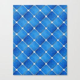 Denim Pattern with Diagonal Lines Canvas Print
