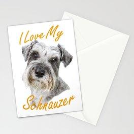I Love My Schnauzer Stationery Cards