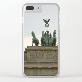 Victory, Brandenburger Gate statue Berlin Clear iPhone Case
