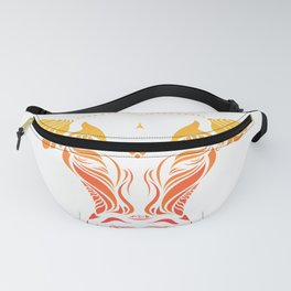 Angry cattle in the wind by #Bizzartino v2 Fanny Pack