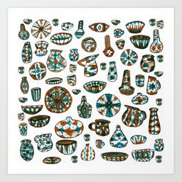 New Mexico Pottery Art Print