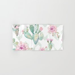 Cactus Rose Deconstructed Chevron Hand & Bath Towel