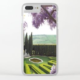 Tuscany Garden Clear iPhone Case