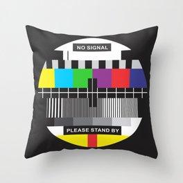TV No Signal Throw Pillow