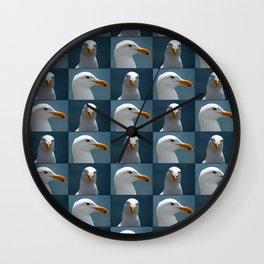 Seagull Faces Wall Clock