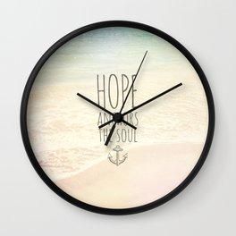 ANCHOR OF HOPE Wall Clock