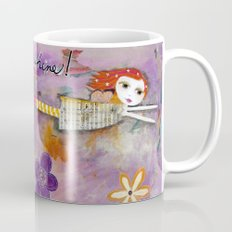 Mixed Media - LIVE IN THE SUNSHINE, Fairy Art Coffee Mug