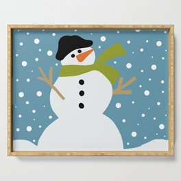 Cute snowman Serving Tray