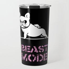 Beast Mode Frenchie Travel Mug
