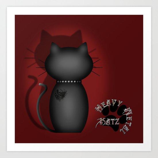 Heavy Metal Katz Art Print