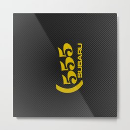 Subaru 555 Carbon Metal Print