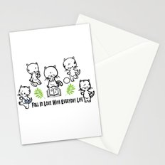 Fall in love with everyday life Stationery Cards