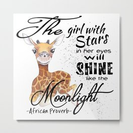 Shine Like The Moonlight Metal Print