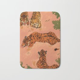 Tiger Beach Bath Mat
