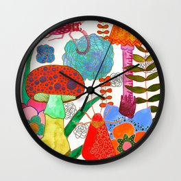 Foraging For Your Heart Wall Clock