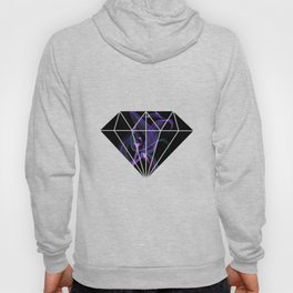 Abstract Purple Light Wave on Black Hoody