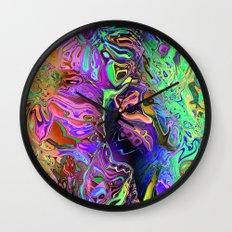 Reflective Colors Abstract Wall Clock