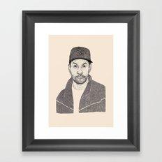 Denzel Washington Portrait Framed Art Print