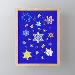 Embellished Stars of David Framed Mini Art Print