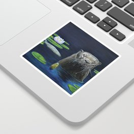 The River Otter by Teresa Thompson Sticker