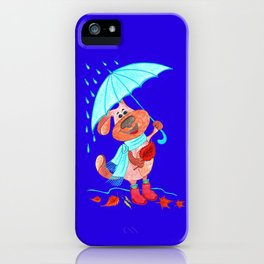 Dog Zahar and Autumn iPhone Case