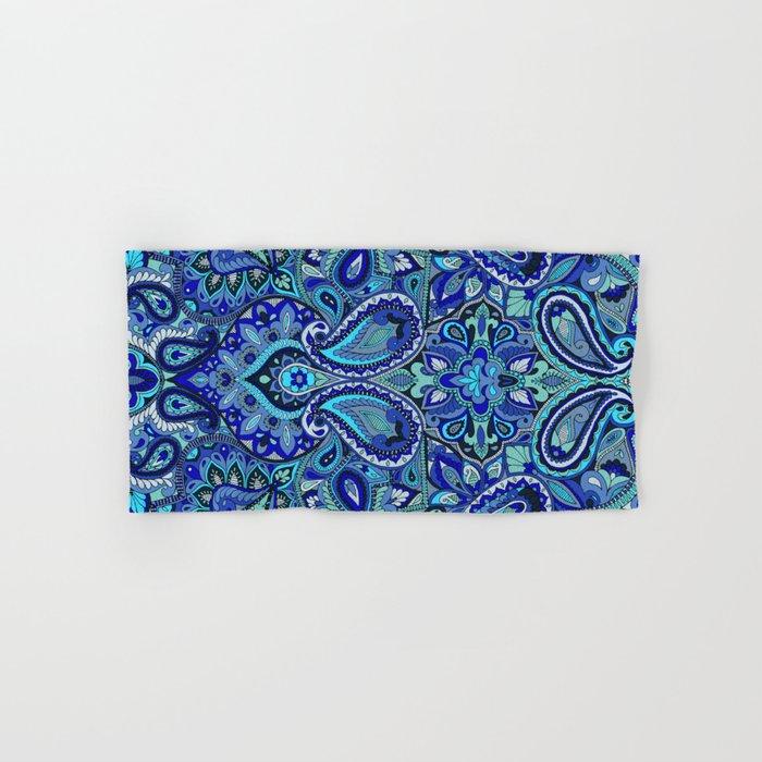 Paisley Blue Hand & Bath Towel