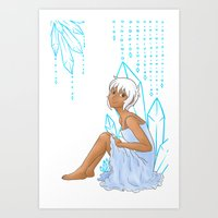 Isabelle and crystals Art Print