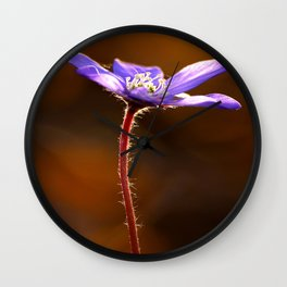 Solo Purple Anemone Forest #decor #society6 Wall Clock