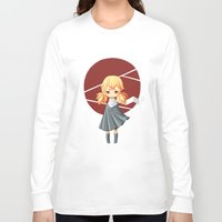 tokyo Long Sleeve T-shirts featuring Tokyo Girl by Freeminds