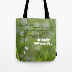 Psalm 119 Tears Tote Bag