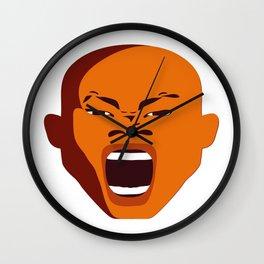 Orange Screaming face Digital pop Art graphic design zolliophone shop Canvas Wall Clock