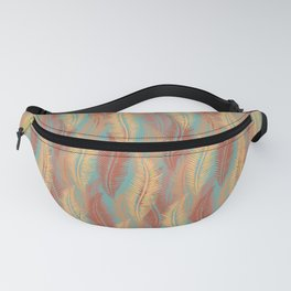 Feather Stripe - Soft Coral Fanny Pack