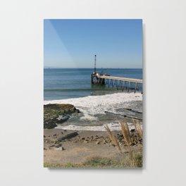 Carpinteria Pier Metal Print