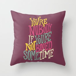 Booed Sometime Throw Pillow
