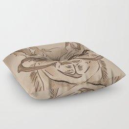 Llama love Floor Pillow