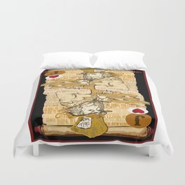 'Mad Hatter' (Alice in Steampunk Series) Duvet Cover