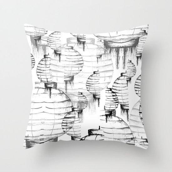 Lantern - white Throw Pillow