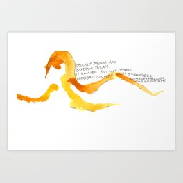 Thought About an Octopus Art Print