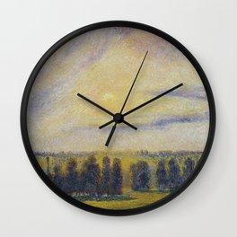 Camille Pissarro - Sunset At Eragny Wall Clock