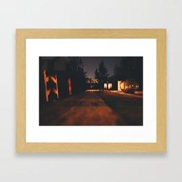 Lanterns Framed Art Print