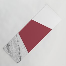 Marble Jester Red Geometry Yoga Mat