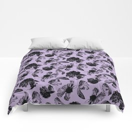 Beta Fish Lavender Comforters