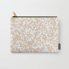 Small Spots - White and Pastel Brown Carry-All Pouch