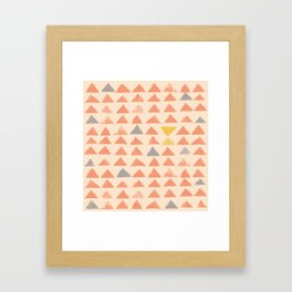 Yellow Triangles Framed Art Print