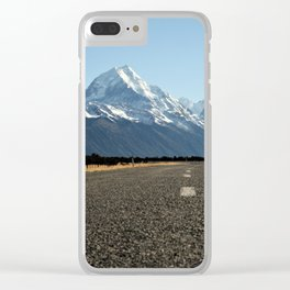 On the Road to Mt. Cook Clear iPhone Case