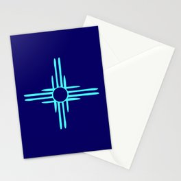 flag of new mexico hand drawn 3 inverted colors Stationery Cards
