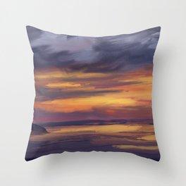 Belle cote sunset Throw Pillow