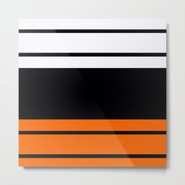 Team Colors 9...Black , white  and orange Metal Print