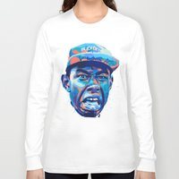 tyler the creator Long Sleeve T-shirts featuring TYLER THE CREATOR: NEXTGEN RAPPERS by mergedvisible