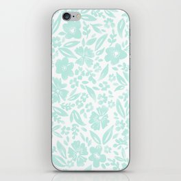 Stamp Floral Pattern iPhone Skin